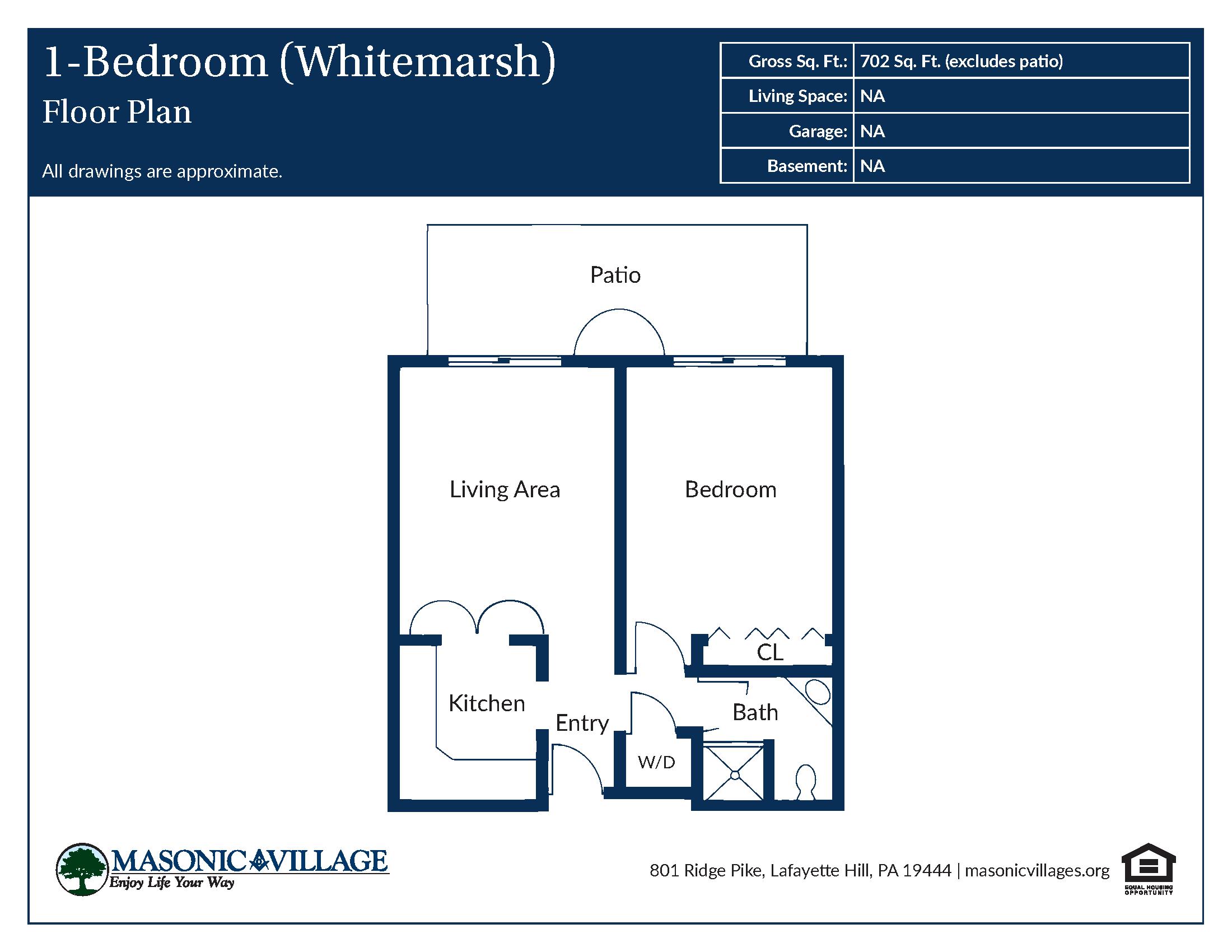 Apartment Type Whitemarsh Floor Plan