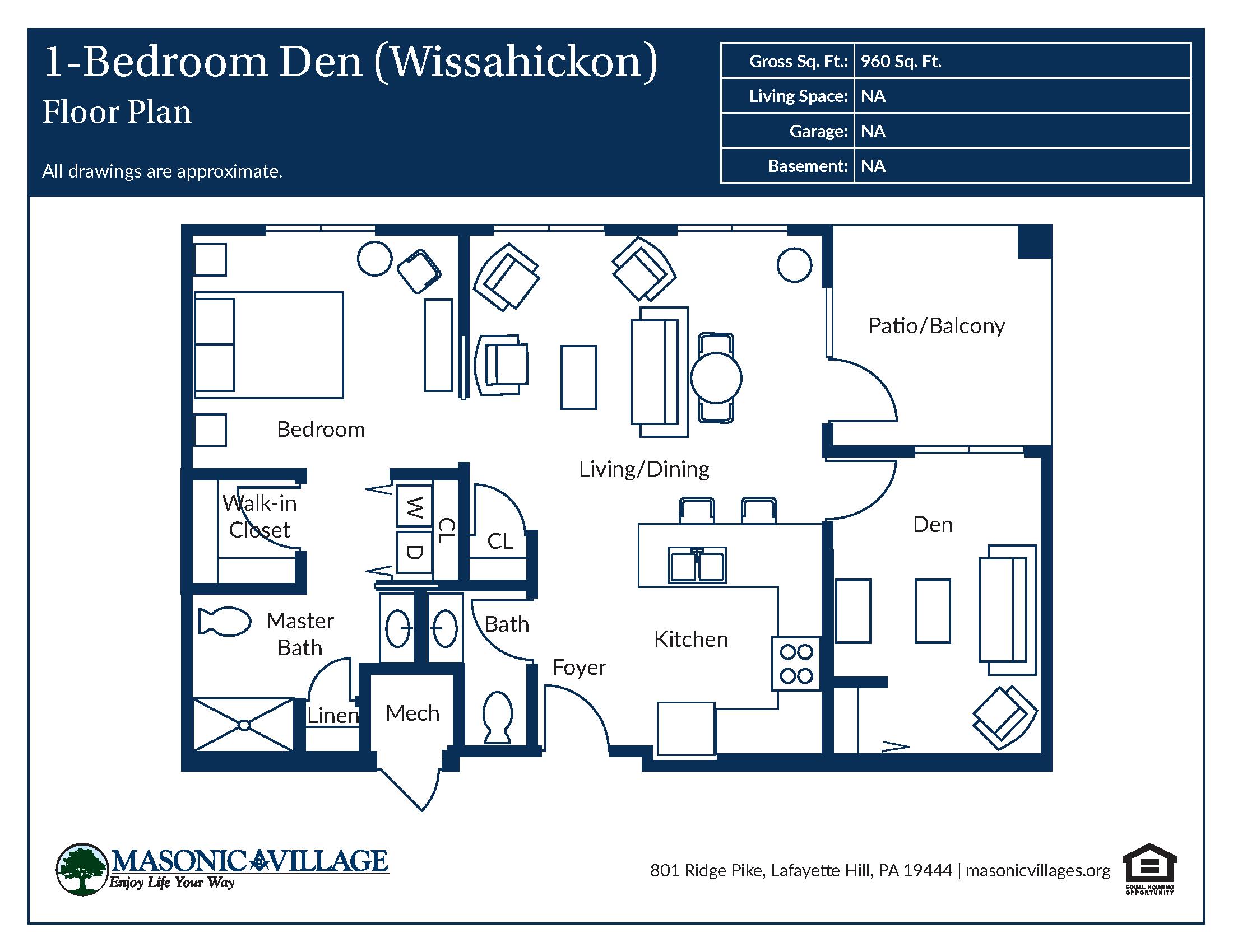 Apartment Type Wissahickon Floor Plan