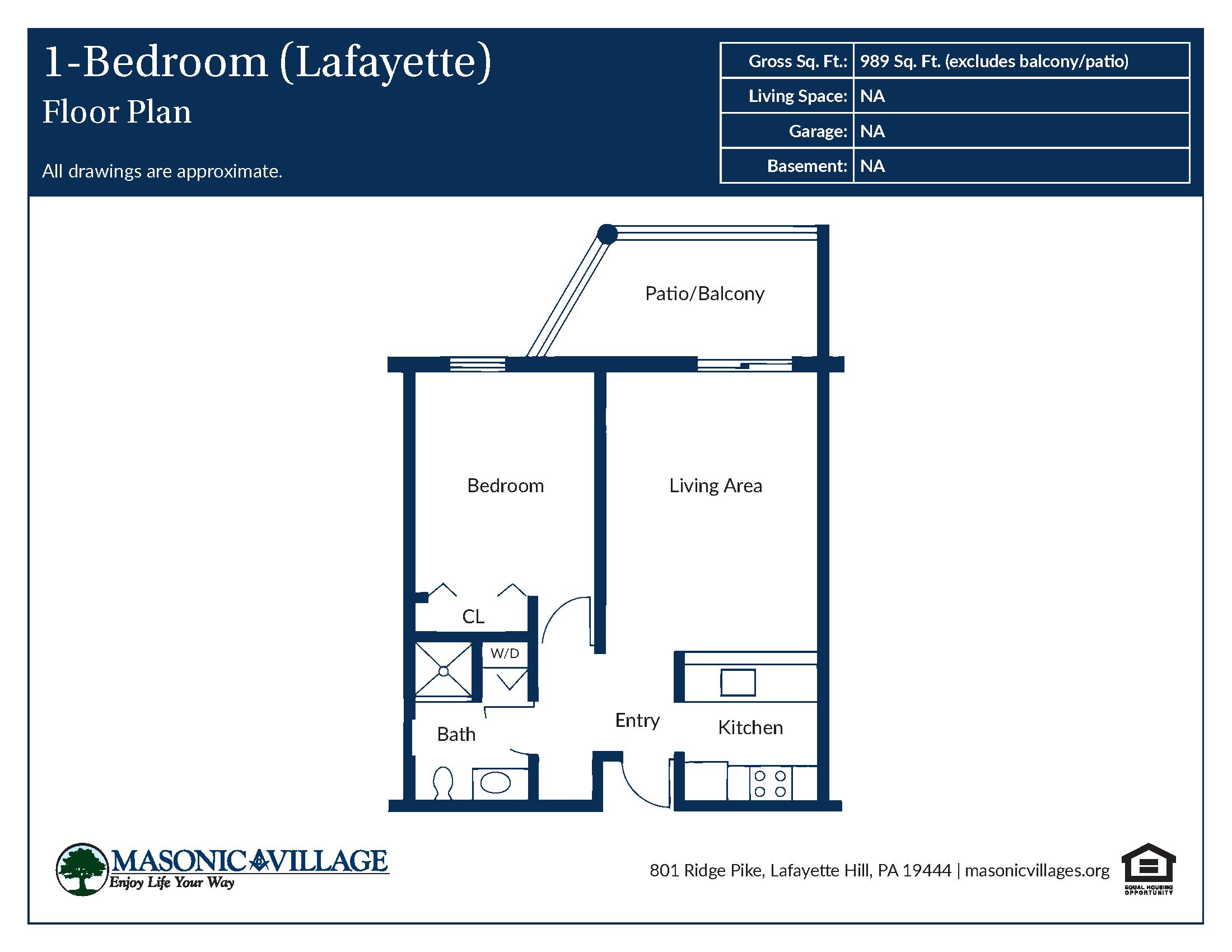 Apartment Type Lafayette Floor Plan