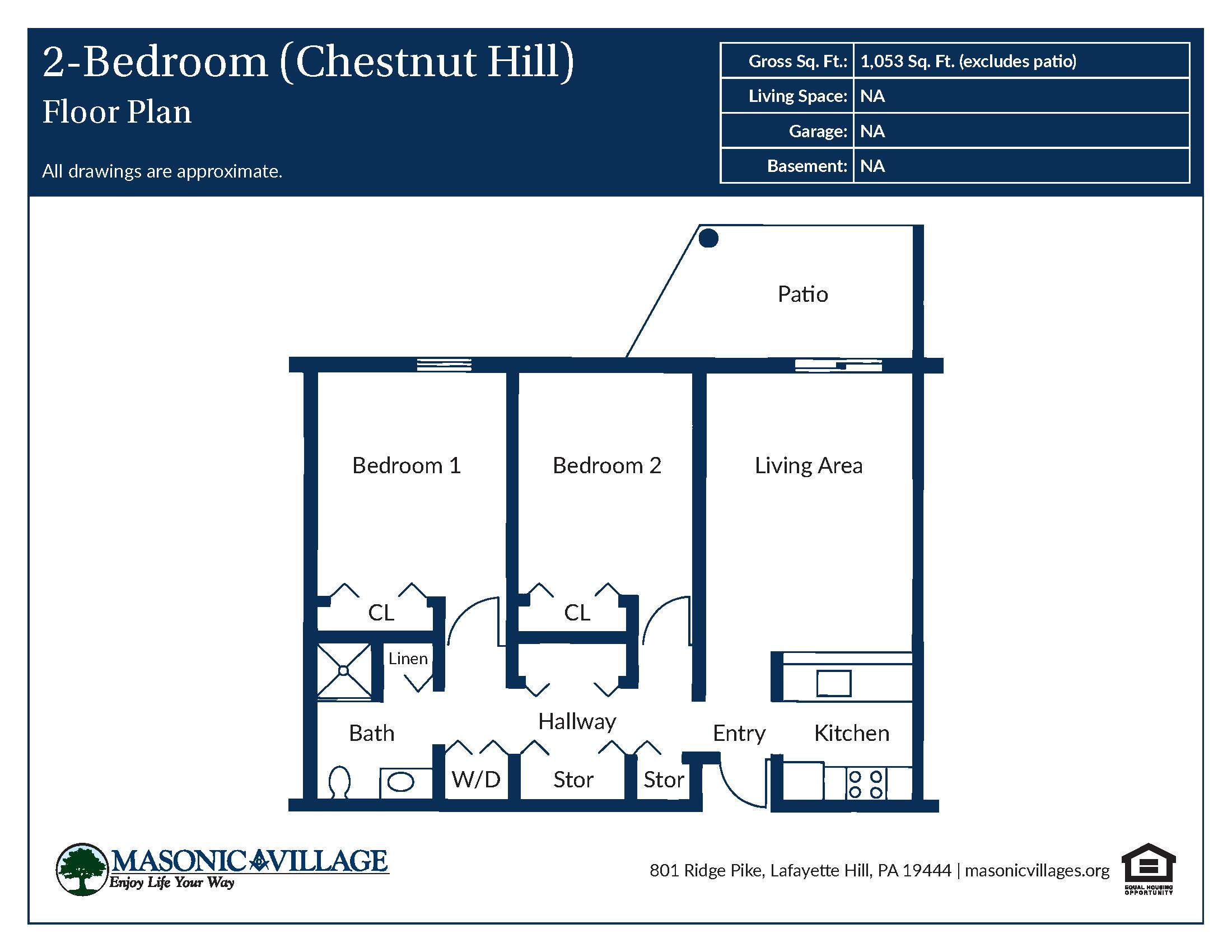 Apartment Type Chestnut Hill Floor Plan