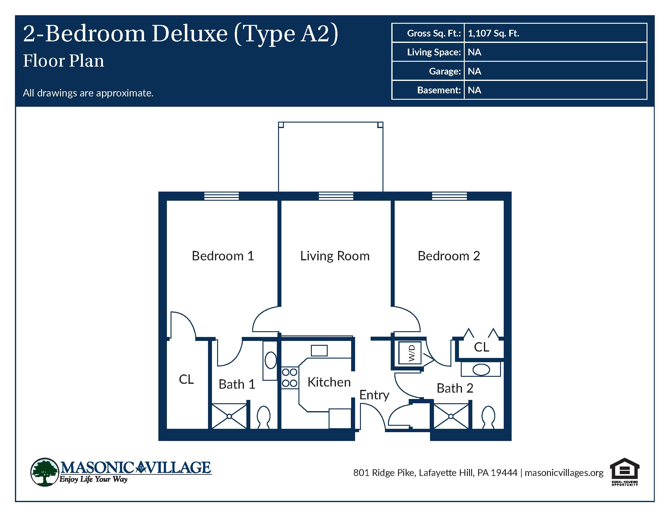 Apartment Type 2 Bedroom A2 Floor Plan