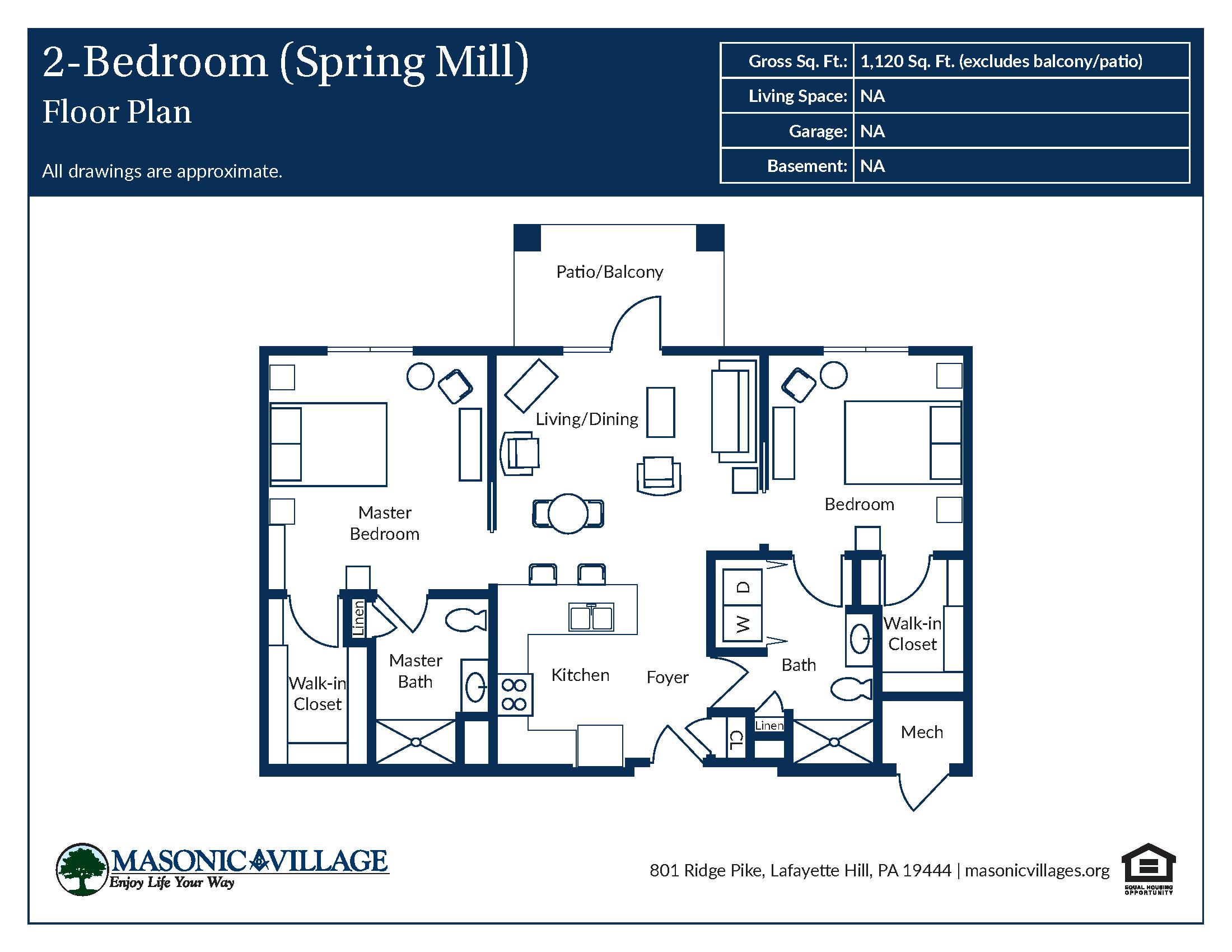 Apartment Type Spring Mill Floor Plan
